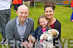Pictured at Ardfert family fun day on Sunday were l-r: Declan Sheehan, Ava Canty, Patricia Canty and Charlie (the dog).