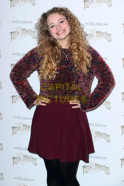 LONDON, ENGLAND - FEBRUARY 28: Carrie Hope Fletcher attends launch of Musical Version of The War of the Worlds as composer Jeff Wayne reveals the full cast his show's final arena tour, a musical based on HG Wells's classic. Tour starts November 27, arrives in London December 13 at The Hospital Club, 24 Endell Street, on February 28, 2014, inn London, England. <br /> CAP/JOR<br /> &copy;Nils Jorgensen/Capital Pictures