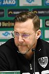 14.02.2020, Preußenstadion, Münster, GER, 3.FBL, SC Preussen Muenster vs. FC Wuerzburger Kickers, <br /> <br /> DFL REGULATIONS PROHIBIT ANY USE OF PHOTOGRAPHS AS IMAGE SEQUENCES AND/OR QUASI-VIDEO<br /> <br /> im Bild<br /> Trainer Sascha Hildmann (SC Preußen Münster), Aktion / Einzelbild /<br /> <br /> Foto © nordphoto / Paetzel
