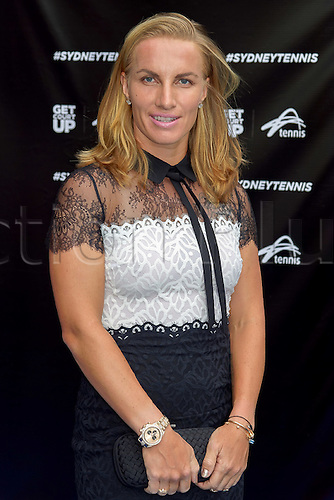 09.01.2017 Sydney, Australia.  17 times WTA title holder Svetlana Kuznetsova (RUS) arrives on the Blue Carpet ahead of the FAST4 Showdown Australian versus Rest of the World team  played at the International Convention Center in Sydney.