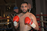 Daniel Khan (red shorts) defeats Edwin Tellez during a Boxing Show at the Sheraton Grand Hotel on 10th May 2018