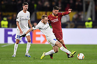 Bryan Cristante of Roma and Roman Bezus of Gent<br /> Roma 20-02-2020 Stadio Olimpico <br /> Football Europa League 2019/2020 Round of 32 first leg <br /> AS Roma -  Kaa Gent<br /> Photo Andrea Staccioli / Insidefoto