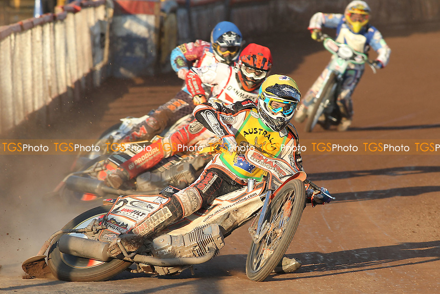 Heat 22: Sam Masters (Australia) out in front - FIM Speedway World Under-21 Team Cup Semi Final at Arena Essex Raceway, Purfleet - 27/05/12 - MANDATORY CREDIT: Gavin Ellis/TGSPHOTO - Self billing applies where appropriate - 0845 094 6026 - contact@tgsphoto.co.uk - NO UNPAID USE.