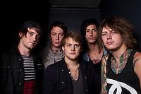 Asking Alexandria backstage at Billboard, Melbourne, 11 October 2011