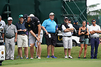 Lee Westwood (ENG) chips onto the 11th green during Wednesday's Practice Day of the 2017 PGA Championship held at Quail Hollow Golf Club, Charlotte, North Carolina, USA. 9th August 2017.<br /> Picture: Eoin Clarke | Golffile<br /> <br /> <br /> All photos usage must carry mandatory copyright credit (&copy; Golffile | Eoin Clarke)