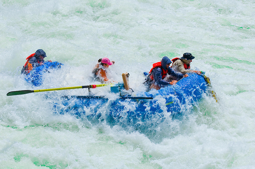 Whitewater rafting, Lava Falls Rapid, Colorado River, Grand Canyon, Grand Canyon National Park, Arizona USA