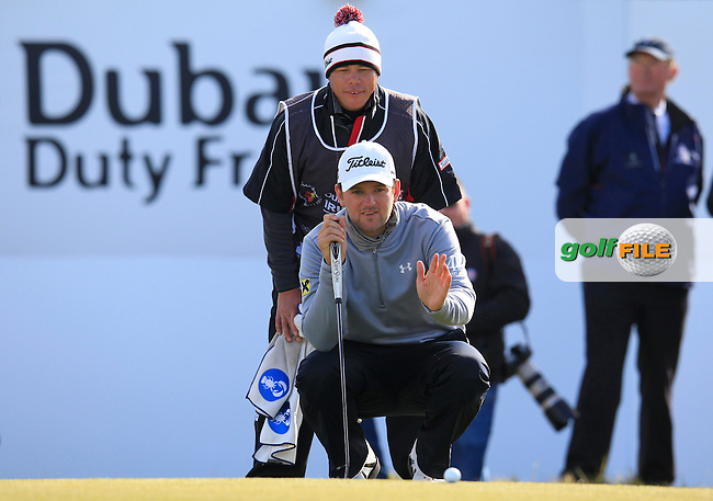 Bernd WIESBERGER (AUT) on the 18th green playoff hole during Sunday's Final Round of the 2015 Dubai Duty Free Irish Open, Royal County Down Golf Club, Newcastle Co Down, Northern Ireland 5/31/2015.<br /> Picture Eoin Clarke, www.golffile.ie