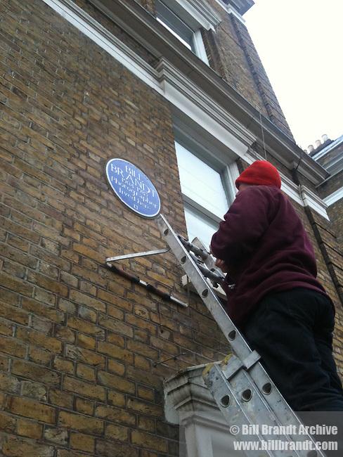 English Heritage Blue Plaque for Bill Brandt