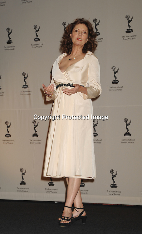 Susan Sarandon ..at The 2006 International Emmy Awards Gala press room on   November 20, 2006 at The New York Hilton. ..Photo by Robin Platzer, Twin Images