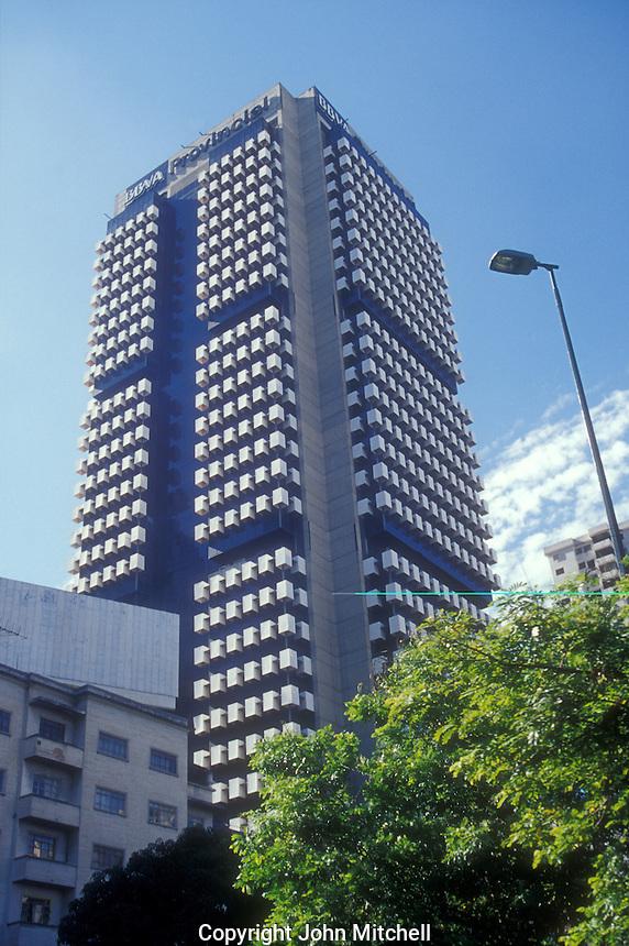 Modern high rise office tower BBVA Provincial building in Caracas, Venezuela