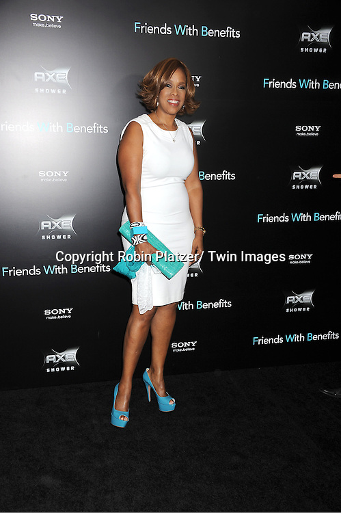 "Gayle King attending the New York Premiere of ""Freinds With Benefits"" on July 18, 2011 at The Ziegfeld Theatre in New York City. The movie stars Justin Timberlake, Mila Kunis, Emma Stone, Patricia Clarkson, Jenna Elfman and Bryan Greenberg."