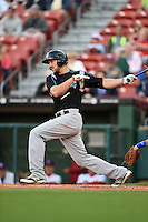 Syracuse Chiefs outfielder Steven Souza Jr. (21) at bat during a game against the Buffalo Bisons on July 23, 2014 at Coca-Cola Field in Buffalo, New  York.  Syracuse defeated Buffalo 5-0.  (Mike Janes/Four Seam Images)