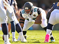Jacksonville Jaguars rookie defensive tackle Eli Ankou (99) against the Los Angeles Rams in a NFL game Sunday, October 15, 2017 in Jacksonville, Fl.  (Rick Wilson/Jacksonville Jaguars)