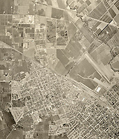 historical aerial photograph Santa Clara, California, 1948