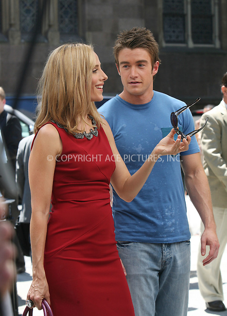 WWW.ACEPIXS.COM . . . . .  ....July 16 2008, New York City....Actors Kim Raver and Robert Buckley were on the midtown set of the TV show 'Lipstick Jungle' on July 16 2008 in New York City....Please byline: AJ Sokalner - ACEPIXS.COM..... *** ***..Ace Pictures, Inc:  ..te: (646) 769 0430..e-mail: info@acepixs.com..web: http://www.acepixs.com