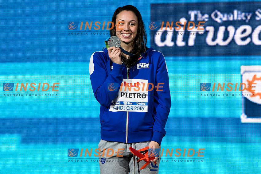 DI PIETRO Silvia ITA Silver Medal<br /> Women's 50m Freestyle<br /> 13th Fina World Swimming Championships 25m <br /> Windsor  Dec. 11th, 2016 - Day06 Finals<br /> WFCU Centre - Windsor Ontario Canada CAN <br /> 20161211 WFCU Centre - Windsor Ontario Canada CAN <br /> Photo &copy; Giorgio Scala/Deepbluemedia/Insidefoto
