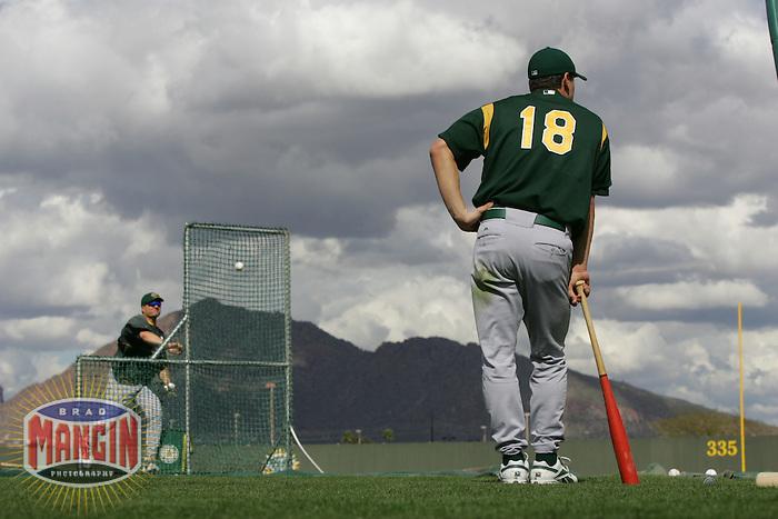 Jason Kendall. Baseball: Oakland Athletics spring training camp at Papago Park. Phoenix, AZ 2/23/2005 MANDATORY CREDIT: Brad Mangin/Sports Illustrated