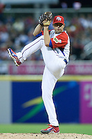 7 March 2009: #33 Javier Vazquez of Puerto Rico pitches against Panama during the 2009 World Baseball Classic Pool D match at Hiram Bithorn Stadium in San Juan, Puerto Rico. Puerto Rico wins 7-0 over Panama.
