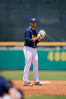 Montgomery Biscuits relief pitcher Kyle Bird (15) gets ready to deliver a pitch during a game against the Biloxi Shuckers on May 8, 2018 at Montgomery Riverwalk Stadium in Montgomery, Alabama.  Montgomery defeated Biloxi 10-5.  (Mike Janes/Four Seam Images)