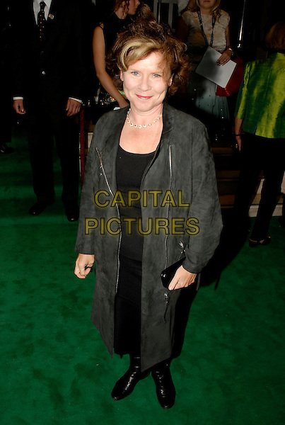 "IMELDA STAUNTON.Opening night of ""Wicked: The Untold Story of The Witches Of Oz"" at Apollo Victoria Theatre, London, UK. .September 27th, 2006.Ref: SW.full length black coat .www.capitalpictures.com.sales@capitalpictures.com.©Stephen Walters/Capital Pictures."
