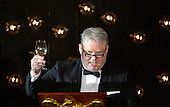 Iceland's Prime Minister Sigurdur Ingi Johannson raises his glass in a toast to U.S.President Barack Obama and fellow Nordic leaders at a State Dinner at the White House, May 13, 2016, in Washington, DC.           <br /> Credit: Mike Theiler / Pool via CNP
