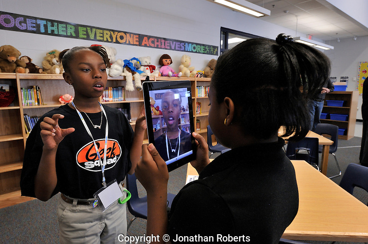 Roosevelt-Perry Elementary School celebrates the opening of its technology wing.