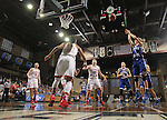 SIOUX FALLS MARCH 22:  Nicole Hampton #2 of Lubbock Christian gets a shot over the Florida Southern defense during their quarterfinal game at the NCAA Women's Division II Elite 8 Tournament at the Sanford Pentagon in Sioux Falls, S.D. (Photo by Dick Carlson/Inertia)