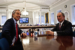 Former British Prime Minister Blair visits New York Mayor Bloomberg