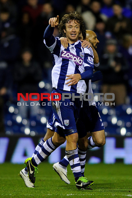 West Brom Defender Diego Lugano celebrates scoring a goal -  - 20/01/2014 - SPORT - FOOTBALL - The Hawthorns Stadium - West Bromwich Albion v Everton - Barclays Premier League.<br /> Foto nph / Meredith<br /> <br /> ***** OUT OF UK *****