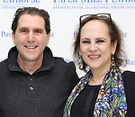 "Nolan Gasser and Mindi Dickstein during the meet the cast photo call for the Paper Mill Playhouse production of  ""Benny & Joon"" at Baza Dance Studios on 3/21/2019 in New York City."