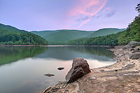 The Sugar Hallow Reservoir and dam located at the base of the Shenandoah National Park just outside Crozet in Albemarle County, VA. Photo/Andrew Shurtleff