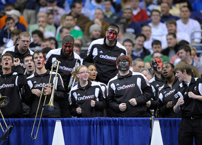 The Bearcats' band perform their routine during timeout. UConn defeats Cincinnati 69-58 during the 3rd round of the NCAA Tournament at the Verizon Center in Washington, D.C on Saturday, March 19, 2011. Alan P. Santos/DC Sports Box