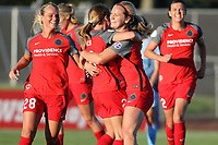 Piscataway, NJ - Saturday June 3, 2017: Amandine Henry, Mallory Weber, Lindsey Horan during a regular season National Women's Soccer League (NWSL) match between Sky Blue FC and the Portland Thorns at Yurcak Field.  Portland defeated Sky Blue, 2-0.