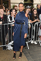 Alesha Dixon<br /> arrives for the TopShop UNIQUE catwalk show as part of London Fashion Week SS17, Old Spitalfields Market, London<br /> <br /> <br /> &copy;Ash Knotek  D3155  17/09/2016