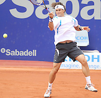 28.04.2012. Barcelona, Spain. ATP Barcelona Open Banc Sabadell. David Ferrer (ESP) beat Milos Raonic (CAN) 7-6 7-6. Picture show David Ferrer