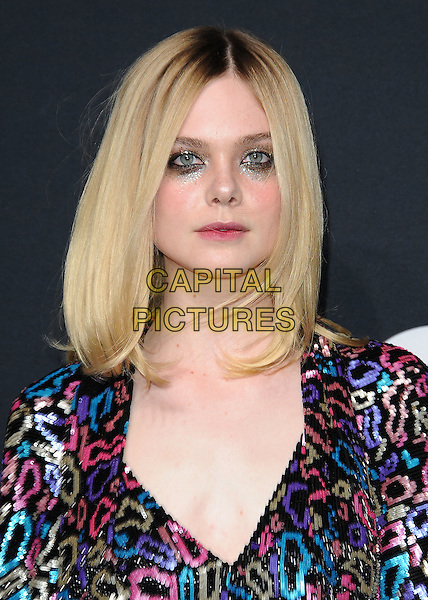 HOLLYWOOD, CA - FEBRUARY 10:  Elle Fanning at Saint Laurent at The Palladium at the Hollywood Palladium on February 10, 2016 in Hollywood, California. <br /> CAP/MPI/PGSK<br /> &copy;PGSK/MPI/Capital Pictures