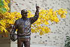 Oct. 7, 2011; Dan Devine statue..Photo by Matt Cashore/University of Notre Dame