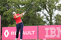Astrid Vayson de Pradenne (FRA) tees off the 5th tee during Friday's Round 2 of The Evian Championship 2018, held at the Evian Resort Golf Club, Evian-les-Bains, France. 14th September 2018.<br /> Picture: Eoin Clarke | Golffile<br /> <br /> <br /> All photos usage must carry mandatory copyright credit (&copy; Golffile | Eoin Clarke)