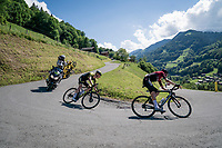 Dylan van Baarle (NED/Ineos) & Jack Haig (AUS/Mitchelton-Scott) are the final stage leaders and will dispute the stage victory<br /> <br /> Stage 8: Cluses (FRA) to Champéry (SUI)(113km)<br /> 71st Critérium du Dauphiné 2019 (2.UWT)<br /> <br /> ©kramon