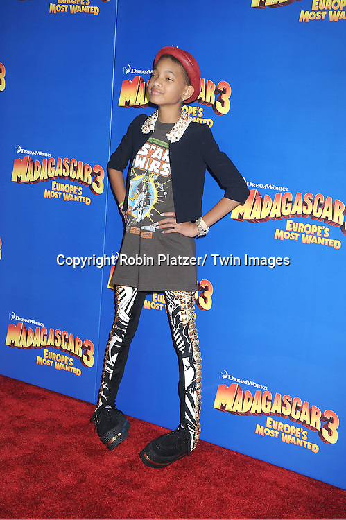 "Willow Smith attends the ""Madagascar 3:  Europe's Most Wanted""  New York Premiere on June 7, 2012 at The Ziegfeld Theatre in New York City."