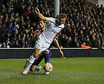 Tottenham's Harry Kane tussles with Fiorentina's Jose Maria Basanta<br /> <br /> Europa League - Tottenham Hotspur  vs Fiorentina  - White Hart Lane - England - 19th February 2015 - Picture David Klein/Sportimage