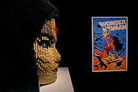 SÃO PAULO, SP 19.09.2019: DC SUPER HEROES-SP - Coletiva de imprensa e visita guiada com a presença do artista norte-americano, Nathan Sawaya, criador da exposição The Art Of The Brick © - DC Super Heroes, a maior exposição mundial feita com mais de 2 milhões de blocos Lego©, que fica em cartaz de 20/09 a 30/11 na Oca do Parque Ibirapuera, zona sul da capital, na manhã desta quinta-feira (19) . (Foto: Ale Frata/Código19)