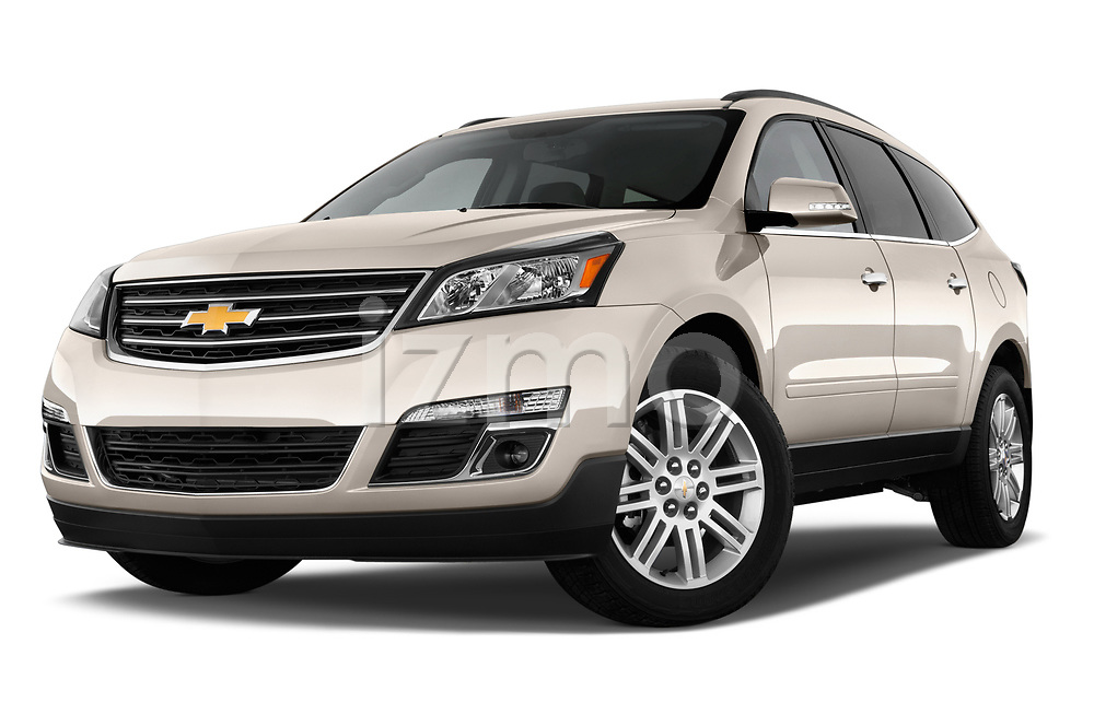Low aggressive front three quarter view of a 2013 Chevrolet Traverse 1LT SUV2013 Chevrolet Traverse 1LT SUV