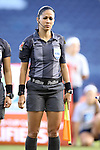 16 October 2014: Assistant referee Shirley Perello (HON). The Jamaica Women's National Team played the Martinique Women's National Team at Sporting Park in Kansas City, Kansas in a 2014 CONCACAF Women's Championship Group B game, which serves as a qualifying tournament for the 2015 FIFA Women's World Cup in Canada. Jamaica won the game 6-0.