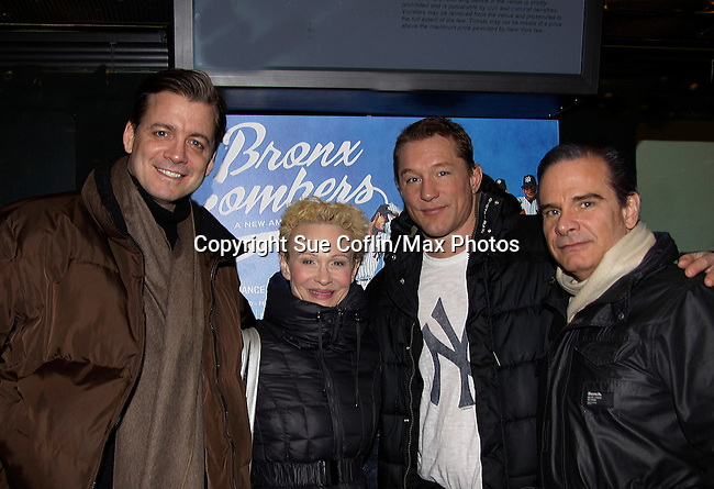 Chris Henry Coffey - Tracy Shayne - Bill Dawes - Peter Scolari star in Bronx Bombers on February 9, 2014 at Circle in the Square Theatre, New York City, New York. (Photo by Sue Coflin/Max Photos)