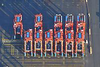 Staddel Carrier: EUROPA, DEUTSCHLAND, HAMBURG, (EUROPE, GERMANY), 02.01.2009: Portalhubwagen, Portalhubstapelwagen,  Portalstapelwagen, van carrier, straddle carrier, gantry lift, Umschlaggeraet fuer ISO-Container, Transportfahrzeug auf dem Containerterminal in Haefen, CTB, Waltershofer Hafen, Logistik, Transport, Fahrzeug, Spezial...c o p y r i g h t : A U F W I N D - L U F T B I L D E R . de.G e r t r u d - B a e u m e r - S t i e g 1 0 2, .2 1 0 3 5 H a m b u r g , G e r m a n y.P h o n e + 4 9 (0) 1 7 1 - 6 8 6 6 0 6 9 .E m a i l H w e i 1 @ a o l . c o m.w w w . a u f w i n d - l u f t b i l d e r . d e.K o n t o : P o s t b a n k H a m b u r g .B l z : 2 0 0 1 0 0 2 0 .K o n t o : 5 8 3 6 5 7 2 0 9.