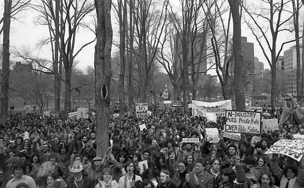 Anti nuclear demonstration in Boston MA after Three Mile Island accident and partial meltdown near Harrisburg PA   4.4.79