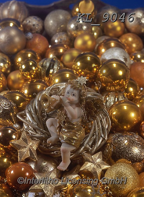 Interlitho-Helga, CHRISTMAS SYMBOLS, WEIHNACHTEN SYMBOLE, NAVIDAD SÍMBOLOS, photos+++++,gold balls, angel,KL9046,#xx#