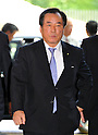 September 2, 2011, Tokyo, Japan - Yasuo Ichikaw, appointed as minister of Defense, arrives at Kantei, prime ministers official residence, in Tokyo on Friday, September 2, 2011. Japans new Prime Minister Yoshihiko Noda has appointed his first cabinet ministers, picking up younger and relatively unknown members of his ruling Democratic Party of Japan into some key positions. (Photo by Natsuki Sakai/AFLO)
