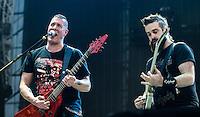 CIUDAD DE MEXICO, D.F. 25 de octubre.- El grupo de rock Agora en el festival de música Hell and Heaven en el Autódromo Hermanos Rodríguez de la Ciudad de México, el 25 de octubre de 2014.  FOTO: ALEJANDRO MELÉNDEZ